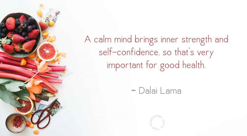 """""""A calm mind brings inner strength"""" quote by the Dalai Lama"""