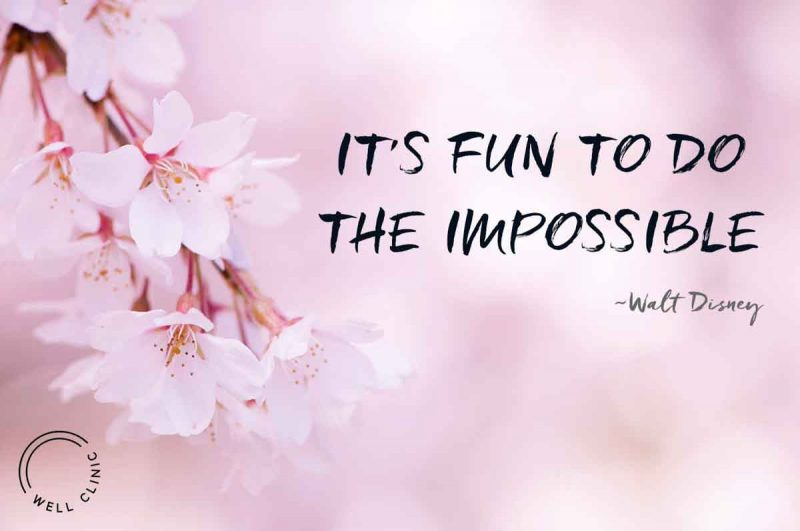 """""""It's fun to do the impossible"""" quote by Walt Disney"""