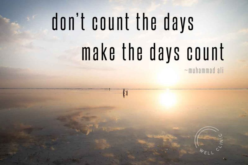 """""""Don't count the days, make the days count"""" quote by ali"""