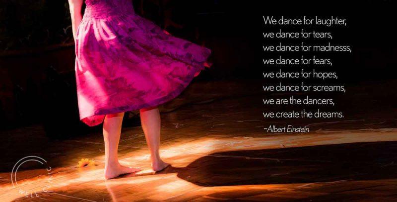 """""""we dance"""" by Albert Einstein"""