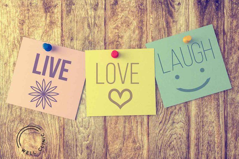 """""""Live, laugh, love"""" quote"""