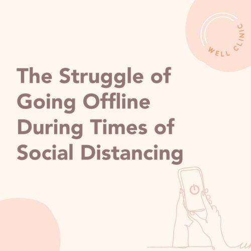 the struggle to go offline