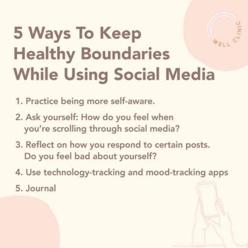 healthy boundaries for social media usage