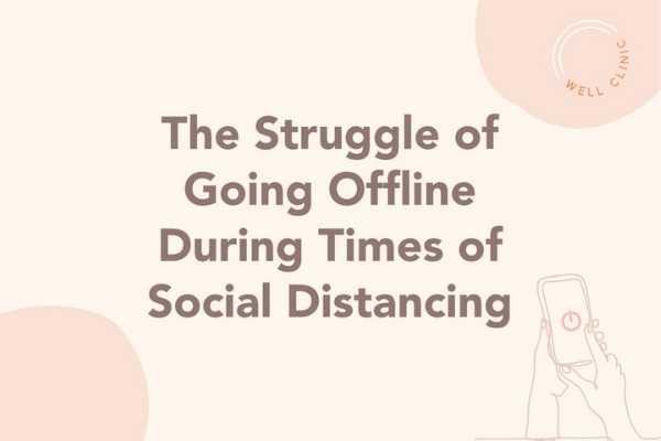 the struggle of going offline